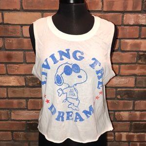 BOGO under $10 Snoopy Peanuts Tank Cute Soft Dream